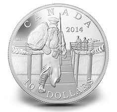 Fine Silver Coin - The Mobilisation of our Nation Canadian Soldiers, Canadian Coins, Canadian History, Mint Coins, Silver Coins, Custom Coins, Cash Today, Powerful Images, Silver Bullion