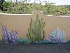Outdoor Cactus Wall Murals Design Inspiration - Cactus Wall Murals for Your Back Yard Garden