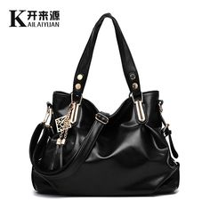 Soft Leather Women's Handbag Messenger Bag Large Capacity Brief All-match Large Tassel Bag Female Handbag Ladies Shoulder Bag