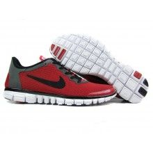 best service a04f5 16a19 Nike Free 3.0 Men Red Black Nike Free Run 3, Grey, Running Shoes
