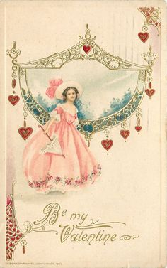 Be My Valentine, vintage postcard!