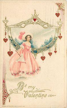 Be My Valentine, vintage postcard!