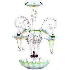 Victorian Art Glass Epergne.