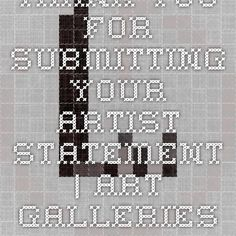Thank You For Submitting Your Artist Statement | Art Galleries Los Angeles