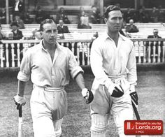 Bill Edrich and Denis Compton playing for England
