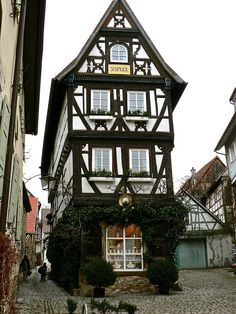 TRAVEL THE WORLD AT CHRISTMAS. Picturesque town in Bad Wimpfen, Germany