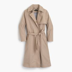 J. Crew Belted Trench Coat - Barley
