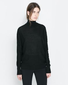 Image 2 of SWEATER WITH TEARDROP OPENING AT THE BACK from Zara