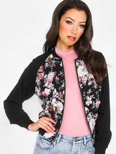 Online shopping for Sheer Floral Bomber Jacket FLORAL from a great selection of women's fashion clothing & more at MakeMeChic.COM.