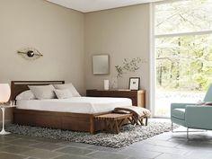 Matera Bedroom Collection, Matelasse Blanket, Stocotti V Bench, Nesta Rug, Nelson Eye Clock, Mohair Blanket. #MateraCollection #SeanYoo #bedroom #moderndesign #dwr