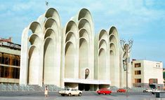 """Georgian Soviet-era architecture can be quite fantastic sometimes… Here is the """"Space Arches"""" structure in Tbilisi, currently demolished"""