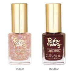 Cupcakes & Champagne Collection : Chocolate Mousse (Scented) Color Changing nail polish from Ruby Wing