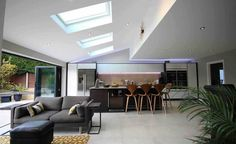 Extending for under 1930s House Extension, House Extension Design, House Design, Rear Extension, Extension Ideas, Bungalow Extensions, House Extensions, Open Plan Kitchen Living Room, Open Plan Living