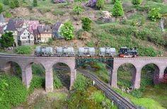 Mountains. Viaduct. Garden RR