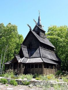 A long-time vacation destination for many Midwesterners, Wisconsin's Door County peninsula offers a wealth of activities for all ages and interests. Picture of Stavkirke