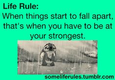 Some Life Rules (cute,love,relationships,relationship,teen,teens,lol,funny,hilarious,lmao,lmfao,gif)