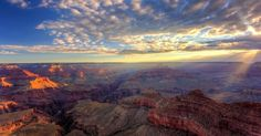 Tips and ideas for getting the best shots at sunrise and sunset in the Grand Canyon, including location suggestions and tips for getting to them