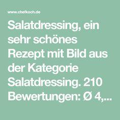 Salatdressing, ein sehr schönes Rezept mit Bild aus der Kategorie Salatdressing. 210 Bewertungen: Ø 4,5. Tags: Dips, einfach, Salatdressing, Saucen, Schnell