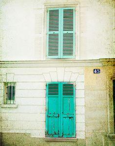 old, rustic window in Montmartre, Paris