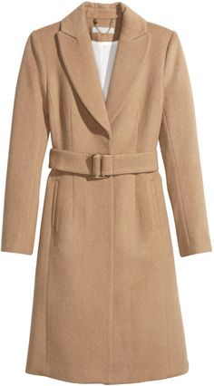 Camel colored wool blend coat - great for a gladiators natural color palette - Olivia Pope STyle