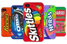 Sweets Vintage Retro Skittles Haribo Nerds Wonka Hard Back Case For Apple iPhone