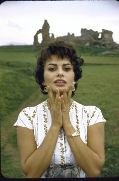 Sophia Loren.  Such a naturally beautiful woman... She claims  to use olive oil as a moisturizer.