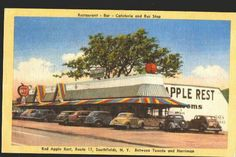 The Red Apple...a great stop on the way to the bungalow colonies, Monticello and the Borscht Belt Hotels!