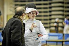 Emilia Rygielska wygrała czwarty turniej Pucharu Polski 2014/145 oraz triumfował w klasyfikacji generalnej całego cyklu. Na zdjęciu wraz z fechtmistrzem Tadeuszem Pagińskim, który od 2015r. prowadzi ponownie także Sylwię Gruchałę.