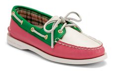 For my AKA friends---Sperry Top-sider Women's Authentic Original Boat Shoe in pink and green. Lily Pulitzer, Tommy Hilfiger, J Crew, Loafer Flats, Loafers, Sperry Topsiders, Boat Fashion, Fashion Shoes, Sperry Boat Shoes