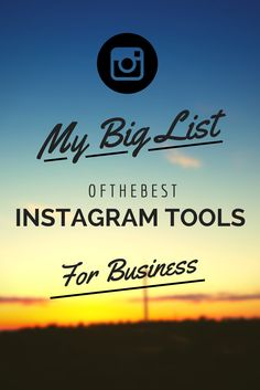 Does using Instagram for business make you feel like you're up a creek without a paddle? No fear! Check out my big list of Instagram tools! #visualchallenge