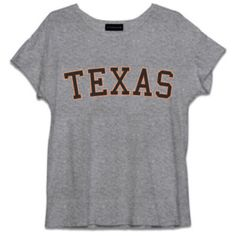 Texas distressed tee (€72) ❤ liked on Polyvore featuring tops, t-shirts, shirts, distressed t shirt, crew-neck shirts, torn shirt, ripped shirt and destroyed tee-shirt