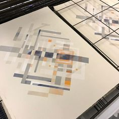 'Cosmos - Star' print finished. That took forever #glasgowprintstudio #cosmos #screenprint #orange #indigo #somersetpaper