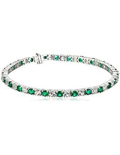 Sterling Silver Sapphire Emerald Bracelet. *** Check out this great product. (This is an affiliate link)