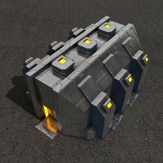 Depot sci-fi building Architecture  3D Models