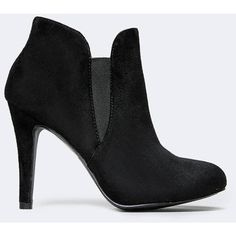 ELASTIC GORE BOOTIE ($40) ❤ liked on Polyvore featuring shoes, boots, ankle booties, black, slip on boots, black booties, short black boots, black ankle booties and pull on ankle boots