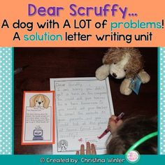 Your students will love writing friendly letters to Scruffy the dog who has lots of problems to be solved! This is a perfect letter writing unit to put in an independent writing center once you teach the parts of a friendly letter (anchor charts included too). Scruffy has so many problems, your students will use their reasoning skills and have the opportunity to work on writing him letters with endless solutions for many months. Work On Writing, Letter Writing, Mutt Dog, Friendly Letter, English Class, Sight Words, Anchor Charts, Phonics, Opportunity