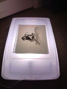 Diy light box for tracing and other art, Cheap Light Box for Drawing or Inking Or. Drawing Light Box, Light Box For Tracing, Diy Light Table, Diy Light Box, Diy Light Fixtures, Light Crafts, How To Make Light, Diy Box, Light Art