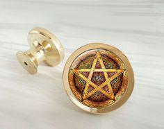 Magic Circle   Drawer Knobs Pulls Handles / Kitchen Cabinet Knobs Handle  Pull / Golden Dresser Part 94