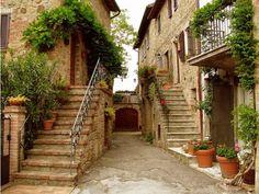 Stairways, Tuscany, Italy