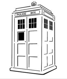 Doctor Who TARDIS pumpkin carving template - Free Printable Coloring ...