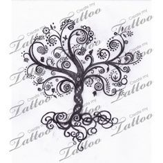 Whimsical Tree of Life | swirly tree #13168 | CreateMyTattoo.com