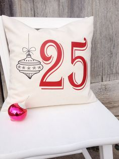 Christmas pillow cover 25 / Ornament / by CedarStreetCreations, $16.00