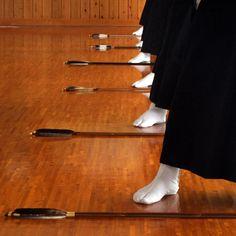 Competition style Kyūdō.
