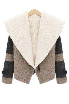 Loose circle woolen short coat