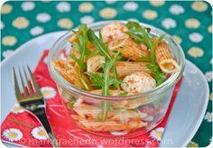 Sommer-Lunch-Salat: Pasta Caprese