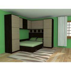 Camera tineret pe colt Elisa. Decoration, Bunk Beds, Furniture Design, Bedroom, House, Art Spaces, Room Ideas, Decor Ideas, Home Decor