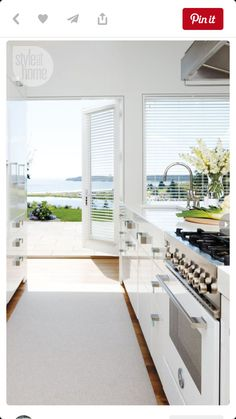 Glossy white cabinets