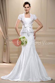 プリティトランペット/マーメイドストラップレス床長さウェディングドレス