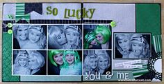 Sizzix Inspiration | St. Patty's Scrapbook Layout by Leica Forrest