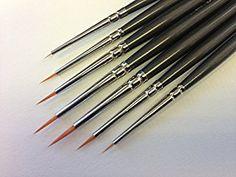 Amazon.com: Modelmakers Miniature Set of 7 Ultra Fine Detail Brushes